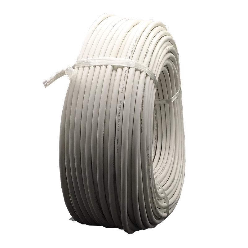 RVV 2芯1/1.5/2.5平方 国标纯铜护套线两芯电线
